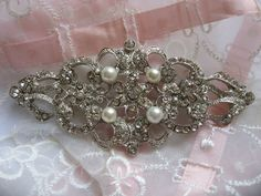 Precious moment Victorian pearls and rhinestone by weddingvalle, $18.99