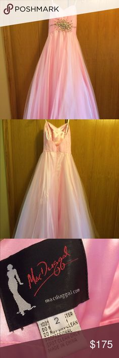 """Cinderella Prom Dress Pink, strapless, many layers. Worn once. Size 2 but altered. Worn by 5'5"""" girl with heels. Dresses Prom"""