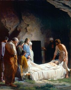 The Burial of Christ by Carl Heinrich Bloch