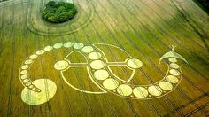 Despite the scrutiny, each year crop circles appear, and thousands if not millions of people travel to see them. Here are five of the most famous crop circles to ever have been created.Did man or aliens make these? Crop Circles, Aliens And Ufos, Ancient Aliens, Circle Art, Circle Design, Grid Design, Serpent Of Light, Labyrinth, Alien Art