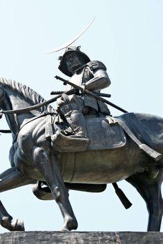 Statue of Date Masamune at Sendai Castle  #Samurai