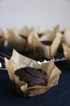 Pear and Carob Muffins Recipe. Vegan and gluten free carob muffins that are moist and amazingly good!