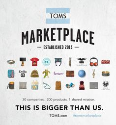 TOMS Marketplace: The Latest in Social Entrepreneurship | Accessories #causerelated #marketing