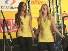 The darts walk-on girls are always the stars of the show for the fans.