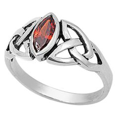Sterling Silver Marquise Red Garnet Cubic Zirconia Celtic Knot Ring Size 7 NakedJewelryLA.com,http://www.amazon.com/dp/B008YM7YNM/ref=cm_sw_r_pi_dp_RK9Zsb1ZRQAKTRAH