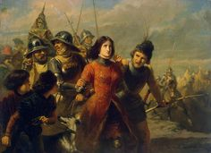 """centuriespast: """"DILLENS, Adolphe-Alexandre Capture of Joan of Arc 1847-52 Oil on panel, 53 x 72 cm The Hermitage, St. Petersburg """""""