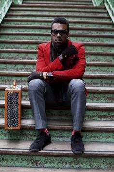 Red blazers on men are amazing