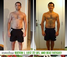 Reuven L. lost 22 lb