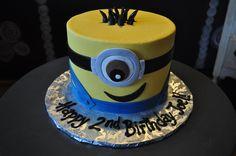 Minion Birthday Cake Sugar Bee Sweets Bakery www.sugarbeesweets.com Wedding Cake Bakery, Wedding Cakes, Minion Birthday, Birthday Cake, Ice Cake, Fort Worth Wedding, 3d Cakes, Custom Cakes, Party Cakes