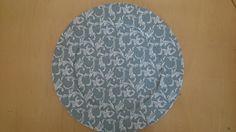 tecido composé, tons grafite, 33 cm diâmetro, 100% algodão impermeabilizado