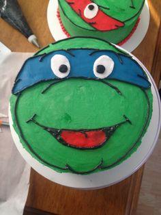 Lucas's ninja turtle cake!