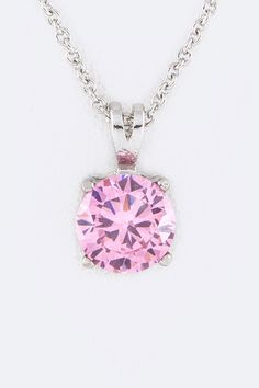 Inviting CZ Pendant Drop Necklace