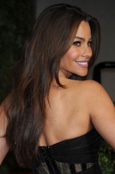 98658d45471 Sofia Vergara I love her hair like this best! It's sleek and natural.