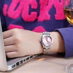 perfect Fashion watch women's Rhinestone quartz watch relogio feminino the women wrist watch dress fashion watch reloj mujer Timex Watches, Big Watches, G Shock Watches, Best Watches For Men, Fossil Watches, Stylish Watches, Cool Watches, Calvin Klein Watch, Diesel Watch