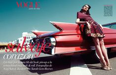 Vogue Mexico May 2012. I just fell in love with the red vintage car