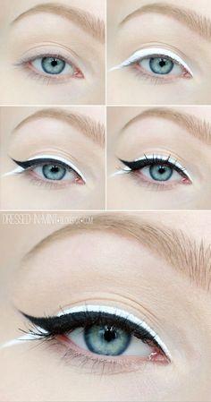 Beautiful Black & White Eyeliner Tutorial - Calgary, Edmonton, Montreal, Vancouver, Toronto, Ottawa, Winnipeg, AB