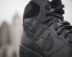 hot sales 68400 0af7a Nike Air Force 1 Misplaced Checks Black John Geiger is the last installment  of the Misplaced Checks series that is dropping in all-Black for the winter.