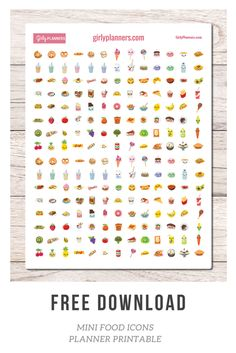 Free Mini Food Icons Printable