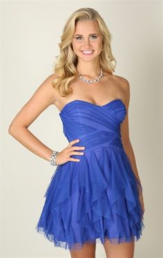 Deb Shops strapless glitter mesh #dress with cross bodice and tendril skirt $72.90
