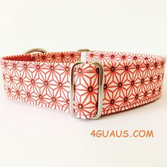 Collar perro Japan Rojo (Martingale, Hebilla o Ajustable), Collar martingale, Collar galgo, Martingale dog collar, Greyhound, Rojo de 4GUAUS en Etsy
