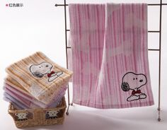 3pcs Snoopy lover towels Bordered hand towels family towel SN1102AH/3 #Kingshore