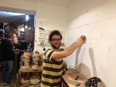 decorating our shop in Kastanienallee #upcycling #ourshop #Berlin