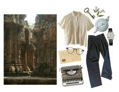 """Let's get a look at the temple"" by mozart-and-coffee ❤ liked on Polyvore featuring Rotary, Ellen Tracy and vintage"
