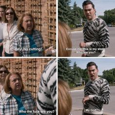 When a Schitt's Creek townswoman stopped David outside of Rose Apothecary. Schitts Creek, Parks N Rec, Reality Tv Shows, Getting Drunk, Best Shows Ever, Movies Showing, How To Do Yoga, Funny Moments, Hilarious