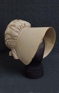 silk taffeta bonnet, 1830s
