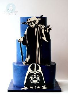 Making Sa-WEET, 2D Cutouts For Your Cakes! Click through to see more photos of this Star Wars Cake!