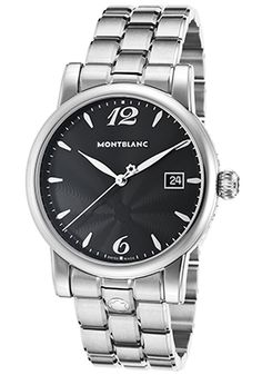Mont Blanc Men's SS Black Dial - #BlackFriday Upto 95% OFF + #FreeShipping on Watches, Women's Watches, Watches For Men, Swiss Watches, Chronograph Watches, Ladies' Watches.