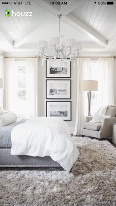 Beautiful bedroom with wall art