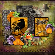 "template ""Toil + Trouble"" by Kristin Aagard Designs, kit ""OSB Haloween"" by  BooLand Designs,"