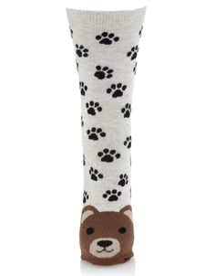 Pierre Bear Face Sock | Multi | Accessorize, 5,50e