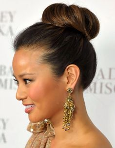 Simple updo bun could made to look more fancy