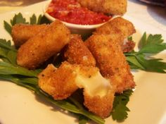 Fried Mozzarella Sticks from Food.com: I made these for my daughter, and I'll never buy store bought cheese sticks again because these are so quick and delicious. This recipe came straight from The Joy of Cooking. I'm thinking about getting a Fry Daddy...