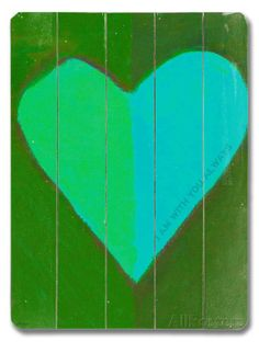 Heart #2 Wood Sign - AllPosters.ca