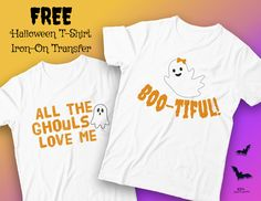 Halloween Party Ideas - Free Halloween Iron-On Transfers at KidsPartyWorks. Halloween Goodie Bags, Halloween Favors, Homemade Halloween Costumes, Last Minute Halloween Costumes, Halloween Stickers, Cute Halloween, Halloween Shirt, Love Coloring Pages, Halloween Coloring Pages