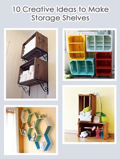 10 Creative Ideas to Make Storage Shelves