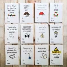 Funny Christmas Sticker Gift Tags, Holiday Labels, Gift Wrap, Package Tag by ArtfulCreationsByDeb on Etsy https://www.etsy.com/listing/208562102/funny-christmas-sticker-gift-tags