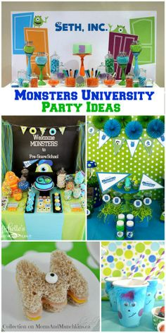 Monsters University Party Ideas #Birthday www.momsandmunchkins.ca
