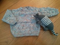 Pretty blue baby jumper 3 - 6 months. 24 inch chest. by MakerMouse on Etsy