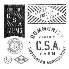 These logos have just the right amount of industrial farm-like qualities.