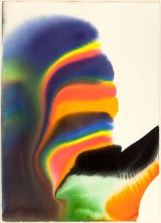 blastedheath:  Paul Jenkins (American, 1923-2012), Untitled. Watercolor on paper 411/2 x 291/2 in.