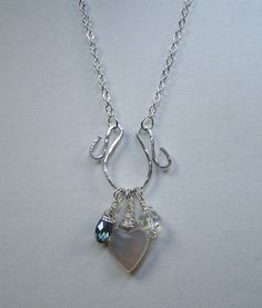 Hammered Sterling Silver Charm Holder Pendant by ShesSoWitte, $25.00