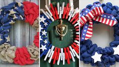 16 Patriotic Handmade 4th Of July Wreaths That You Can Easily Make By Yourself ~ Idees And Solutions