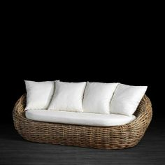 Romy 3 Seat Rattan Sofa