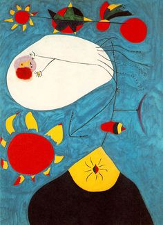 Joan Miro - Portrait IV 1938 Once again it is difficult to make out what this is a painting of. Spanish Painters, Spanish Artists, Joan Miro Pinturas, Miro Artist, Joan Miro Paintings, Oil Painting Reproductions, Jackson Pollock, Famous Artists, Oeuvre D'art