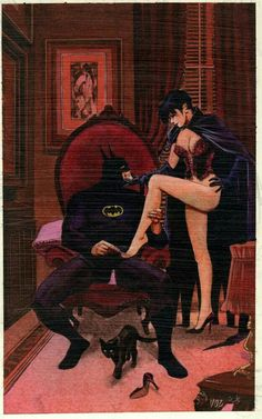 Catwoman and Batman by Mike Vosburg - idk why I find this to be such good art. Batman Love, Im Batman, Batman Art, Superman, Batman Poster, Catwoman Cosplay, Batman And Catwoman, Catwoman Suit, Comics Anime