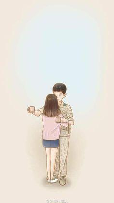 Descendants of the Sun-Korean Drama_Song Joong-ki x Song Songsong Couple, Cute Couple Art, Couple Ideas, Love Cartoon Couple, Anime Love Couple, Kdrama, Korean Drama Songs, Desendents Of The Sun, My Shy Boss